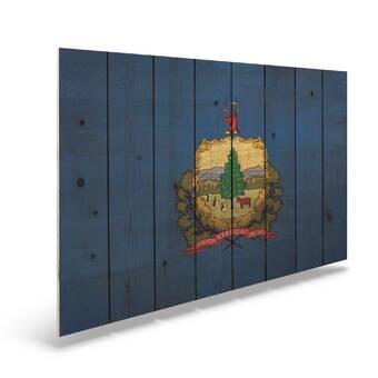 Trinx One Of A Kind Original Louisiana State Flag Unframed Print On Wood Wayfair