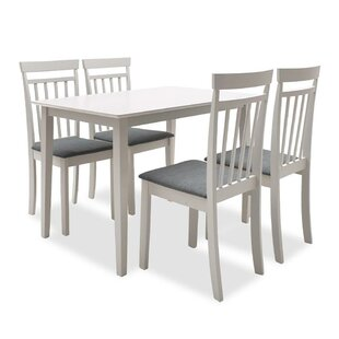 Baumbach Dining Set With 4 Chairs By Brambly Cottage