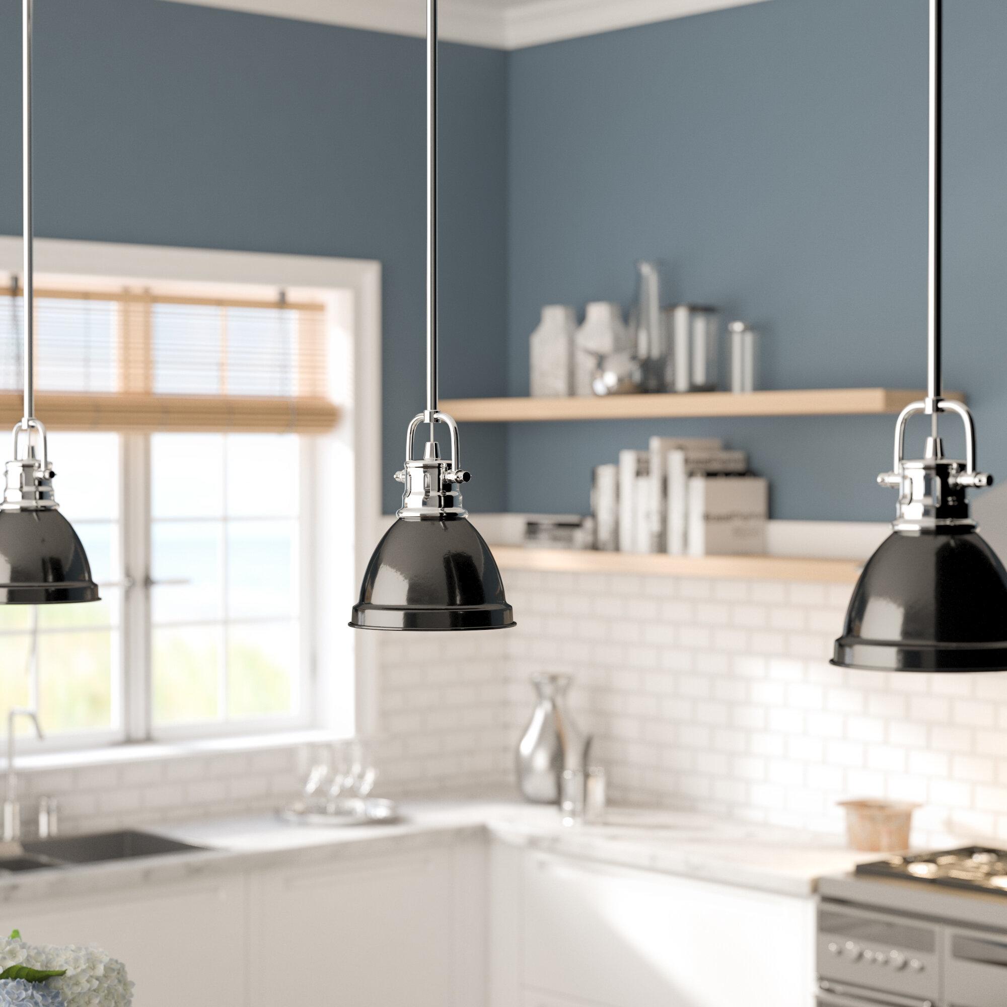 Beachcrest Home Bodalla 1 Light Single Dome Pendant Reviews Wayfair