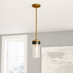 Price Check Dunigan 1-Light Cylinder Pendant By Ivy Bronx