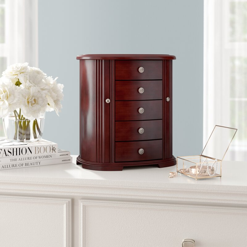 0105a4f98 Darby Home Co 4 Drawers Wooden Jewelry Box & Reviews | Wayfair