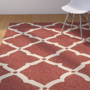 Oaknoll Hand-Tufted Red Indoor/Outdoor Area Rug