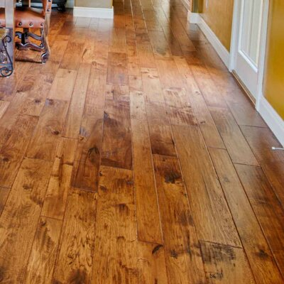 Hudson Bay Random Width Engineered Hickory Hardwood Flooring in Victoria Albero Valley