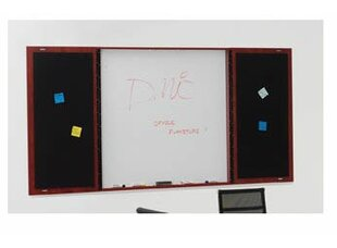 Fairplex Presentation Magnetic Enclosed Whiteboard, 4' H x 4' W by Flexsteel Contract