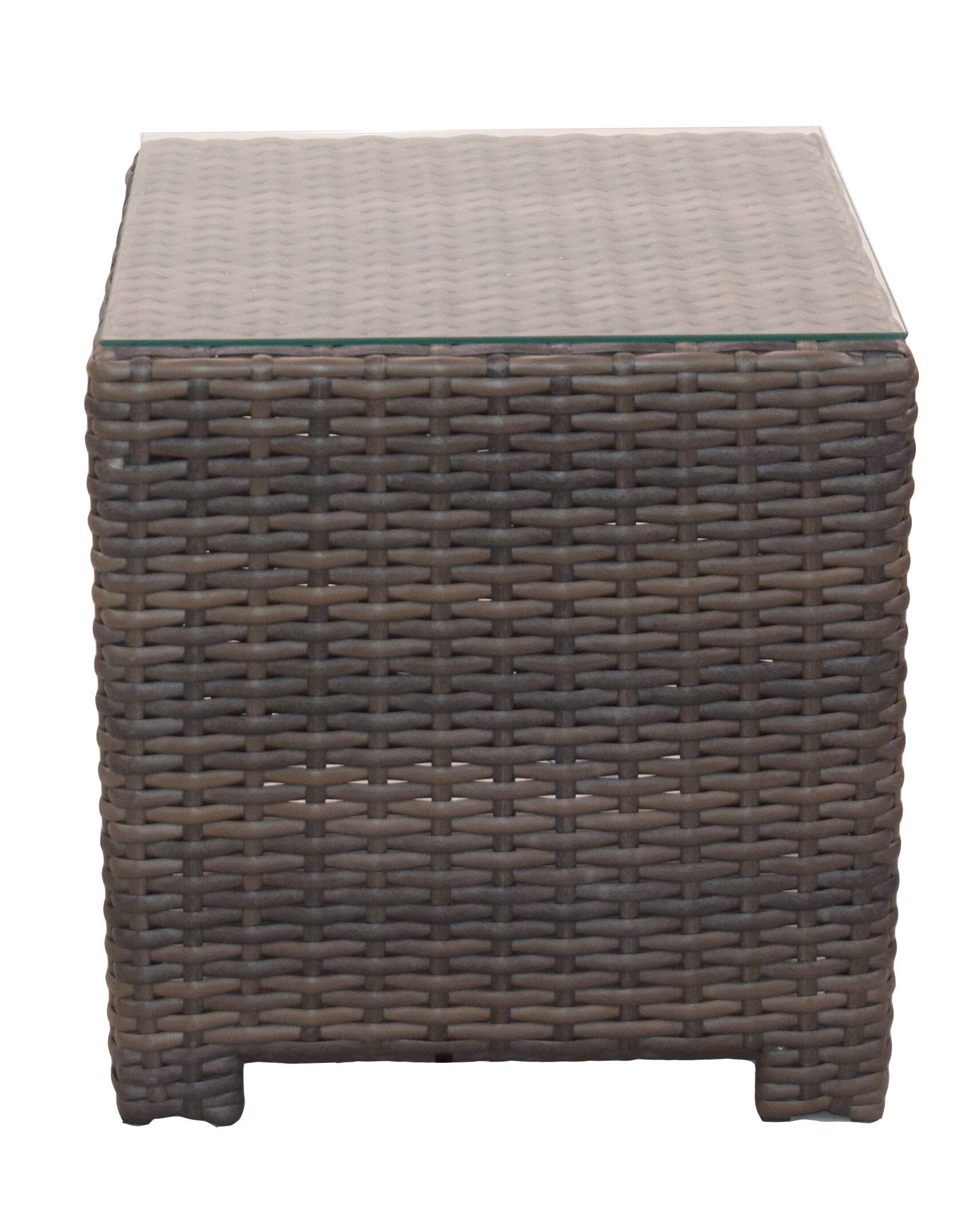 Highland Dunes Cribbs Wicker Rattan Side Table Wayfair