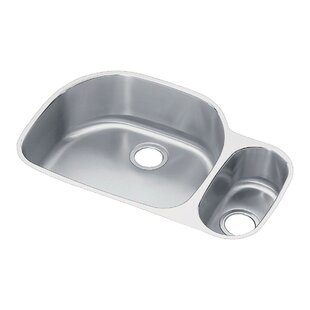 Lustertone 32 L x 21 W Double Basin Undermount Kitchen Sink