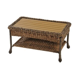 Ophélie Outdoor Faux Sea Grass Garden Patio Coffee Table