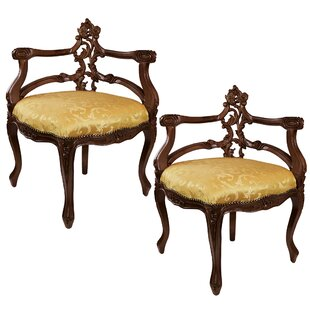 French Salon Corner Armchair (Set of 2) by Design Toscano