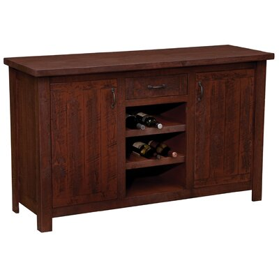 Union Rustic Devereaux Sideboard with Wine Rack Shelves  Color: Red Canyon
