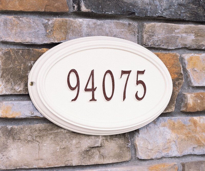 Whitehall Products Concord Oval 1 Line Wall Address Plaque Wayfair
