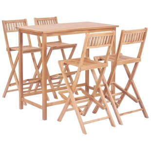 Review Folding Dining Set With 4 Chairs