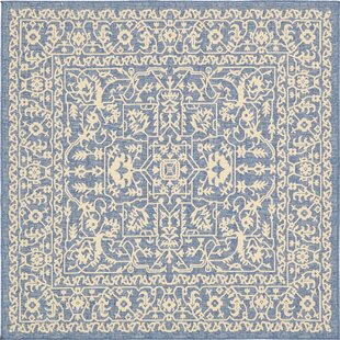 Aarav Blue Indoor/Outdoor Area Rug