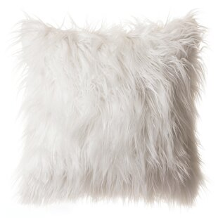 Hubbard Faux Fur Throw Pillow
