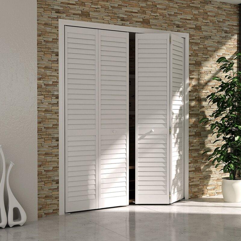 Ordinaire Plantation Louver Panel Wood Bi Fold Door