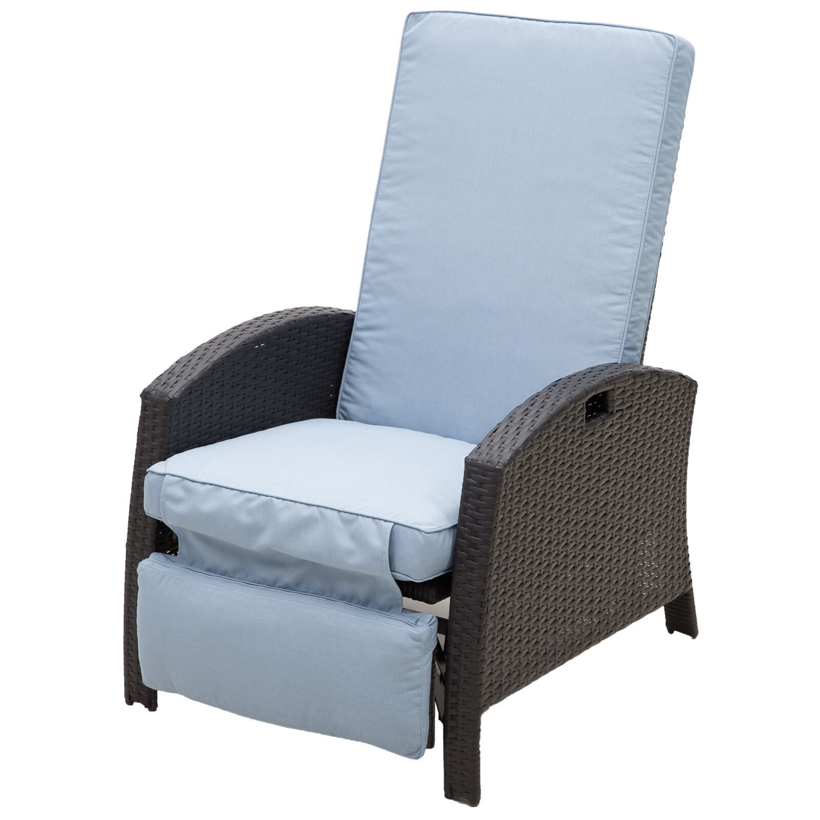 Picture of: Latitude Run Petros Recliner Patio Chair With Cushions Reviews Wayfair