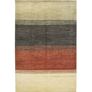 Affordable Price One-of-a-Kind Gabbeh Handwoven 6' x 9'3 Wool Beige/Black/Red Area Rug By Bokara Rug Co., Inc.