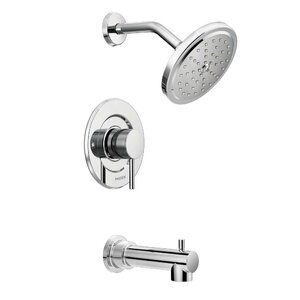 Align Tub and Shower Faucet Trim with Lever Handle and Moentrol
