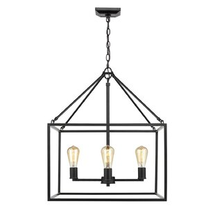 Zabel 4-Light Square/Rectangular Pendant by Williston Forge