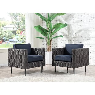 Carly Patio Chair with Cushion (Set of 2)