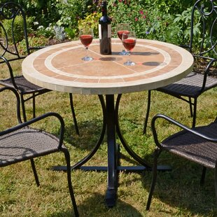 Micaela Ceramic/Steel Dining Table By Sol 72 Outdoor
