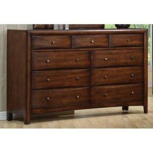 Top Brands of Westgate Spacious Wooden 9 Drawer Dresser by Loon Peak