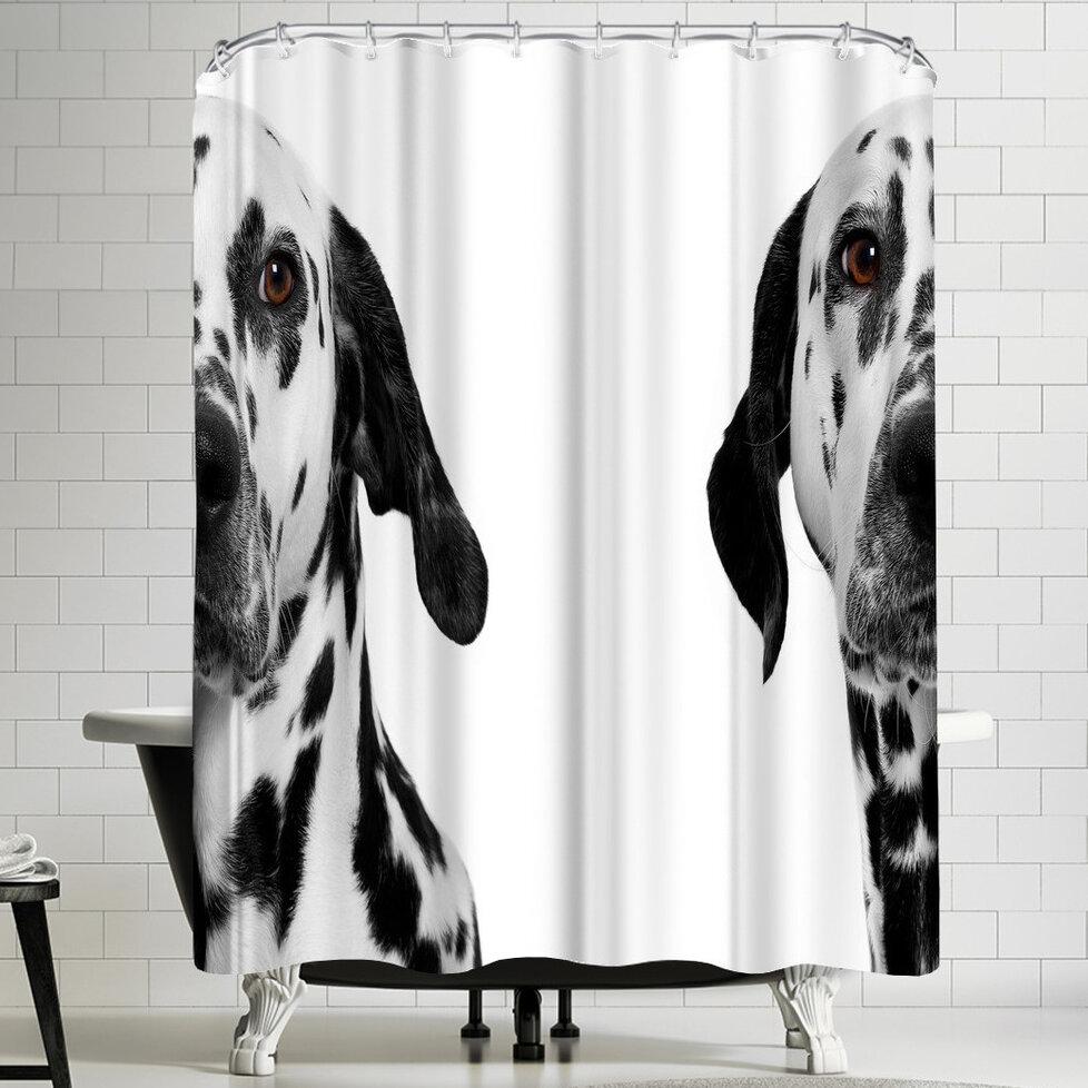 East Urban Home Maja Hrnjak Dalmatian Dog 3 Shower Curtain Reviews