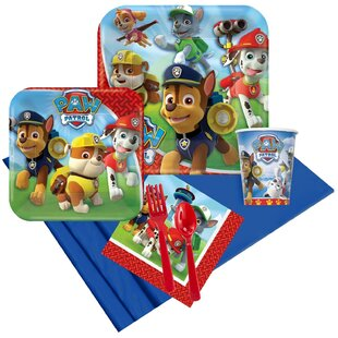 Paw Patrol 8 Guest Plastic Disposable Party Kit Set (Set of 40)