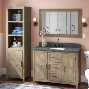 Alamo 70 Single Bathroom Vanity Set with Mirror by Laurel Foundry Modern Farmhouse