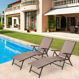 Ebern Designs Hallatrow Reclining Chaise Lounge (Set of 2)