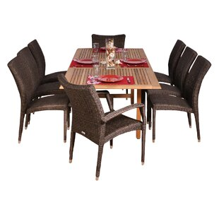 Beachcrest Home Aquia Creek 9 Piece Teak Dining Set