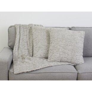 Friday Ruffle 3 Piece Faux Fur Throw Pillow Set