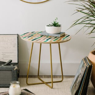 Fimbis Scandi Stripes End Table by East Urban Home