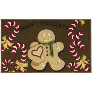 Gingerbread Man Brown Area Rug