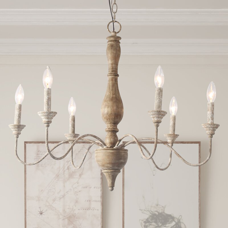 Tacoma 6-Light Candle Style Chandelier