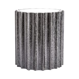 Reflective Column End Table