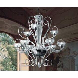 Leucos Bolero 9-Light Shaded Chandelier