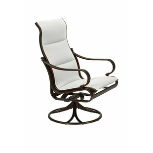 Tropitone Torino Padded Sling High Back Swivel Rocking Chair with Cushion