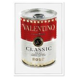 Fashion and Glam Rockstud Soup Can - Floater Frame Graphic Art Print