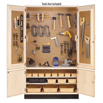 Freestanding Manufactured Wood Garage Storage Cabinets You