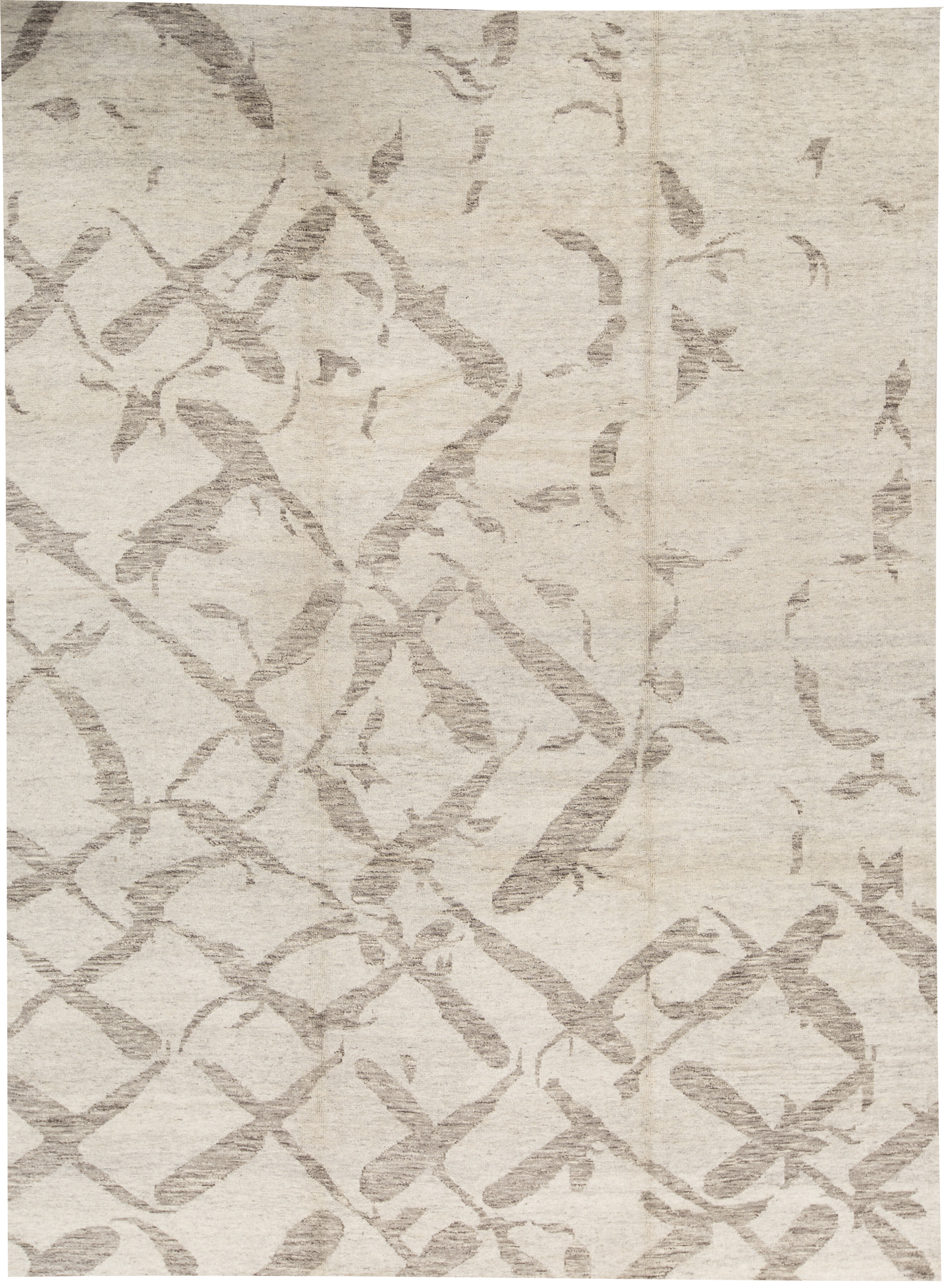 Bokara Rug Co Inc One Of A Kind Hand Knotted Berber Beige 10 X 14 Wool Area Rug Wayfair
