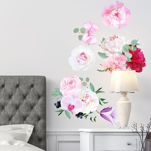 Peony Flowers Seasonal Bouquet Wall Decal