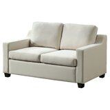 Lisbon Velvet 53 Square Arms Loveseat by Glory Furniture