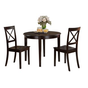 Benedix 3 Piece Solid Wood Dining Set by Red Barrel Studio
