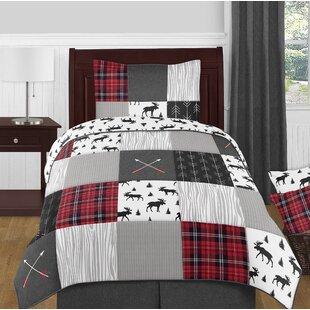 Rustic Patch 4 Piece Twin Reversible Comforter Set