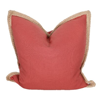 Breakwater Bay Aramantha Feathers Throw Pillow Colour: Coral
