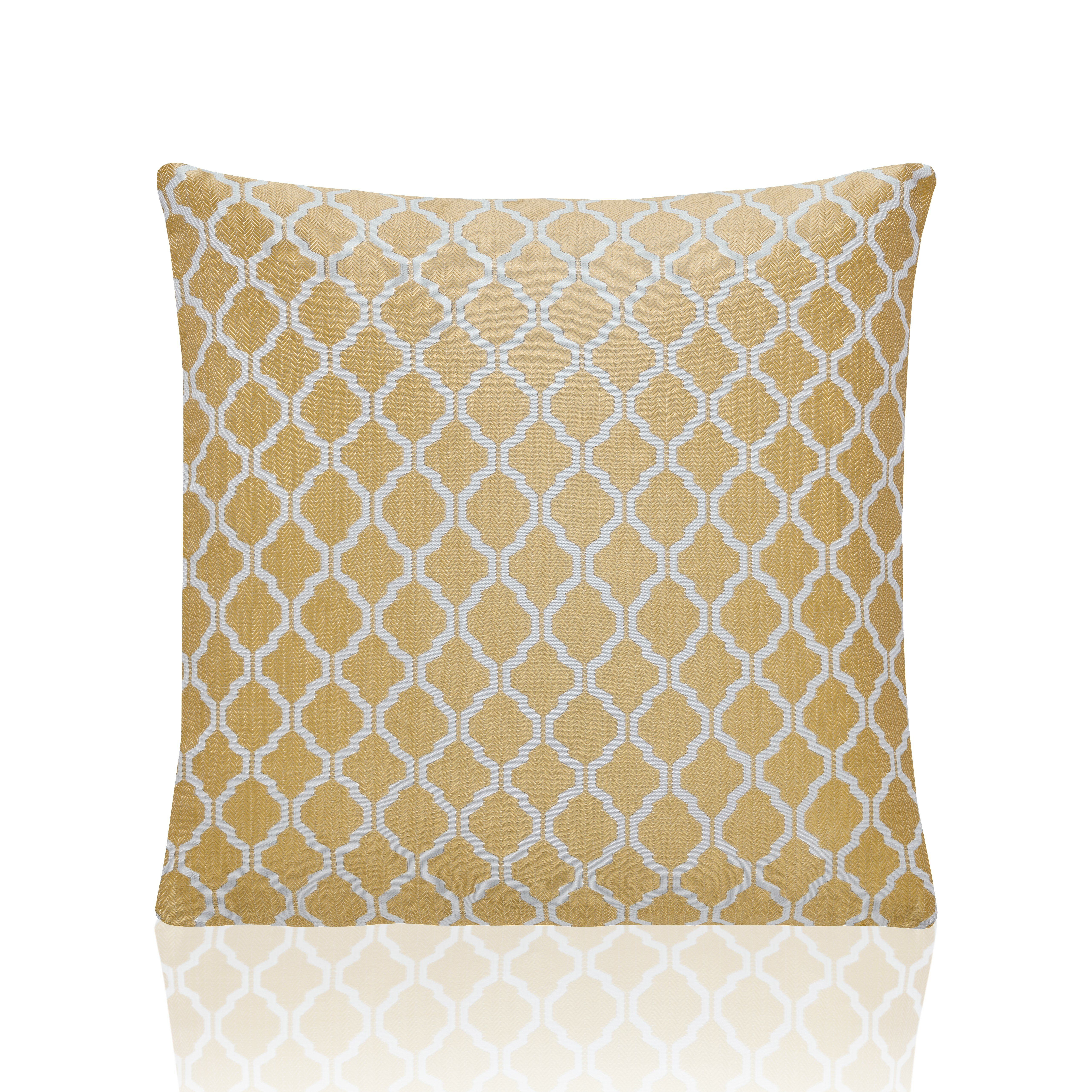 """2 X JACQUARD MOROCCAN-STYLE PATTERNED SILVER WHITE 22/"""" 55CM CUSHION COVERS"""