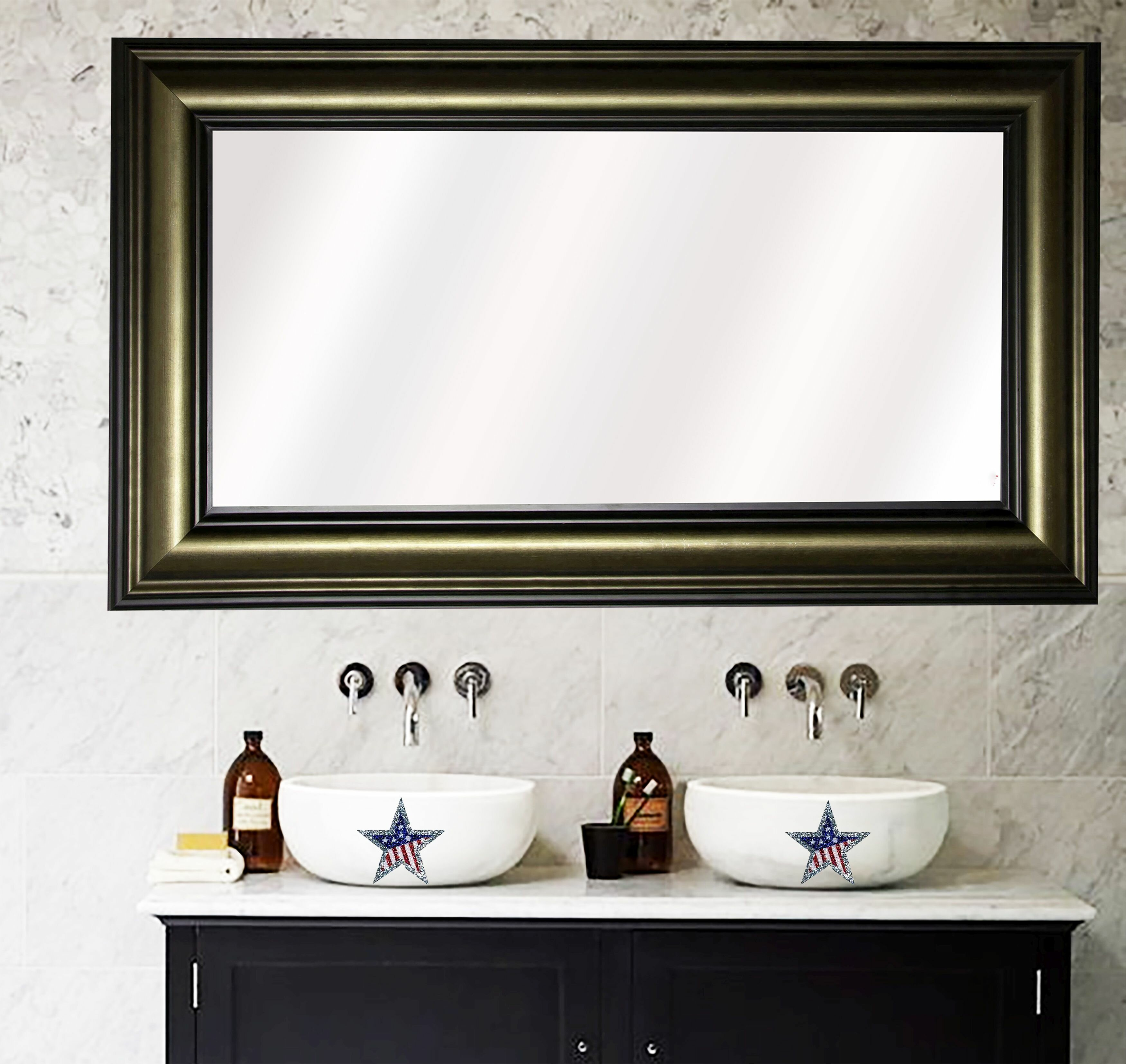 Rosdorf Park Navarro Antique Bathroom/Vanity Mirror | Wayfair