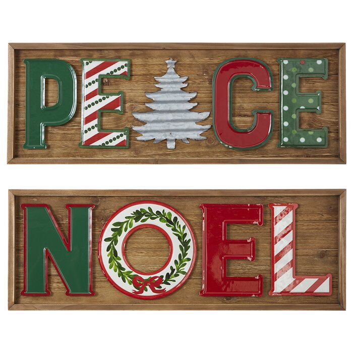 """NOEL joined MDF word for Christmas decoration 4/"""" and 6/"""" free standing option"""