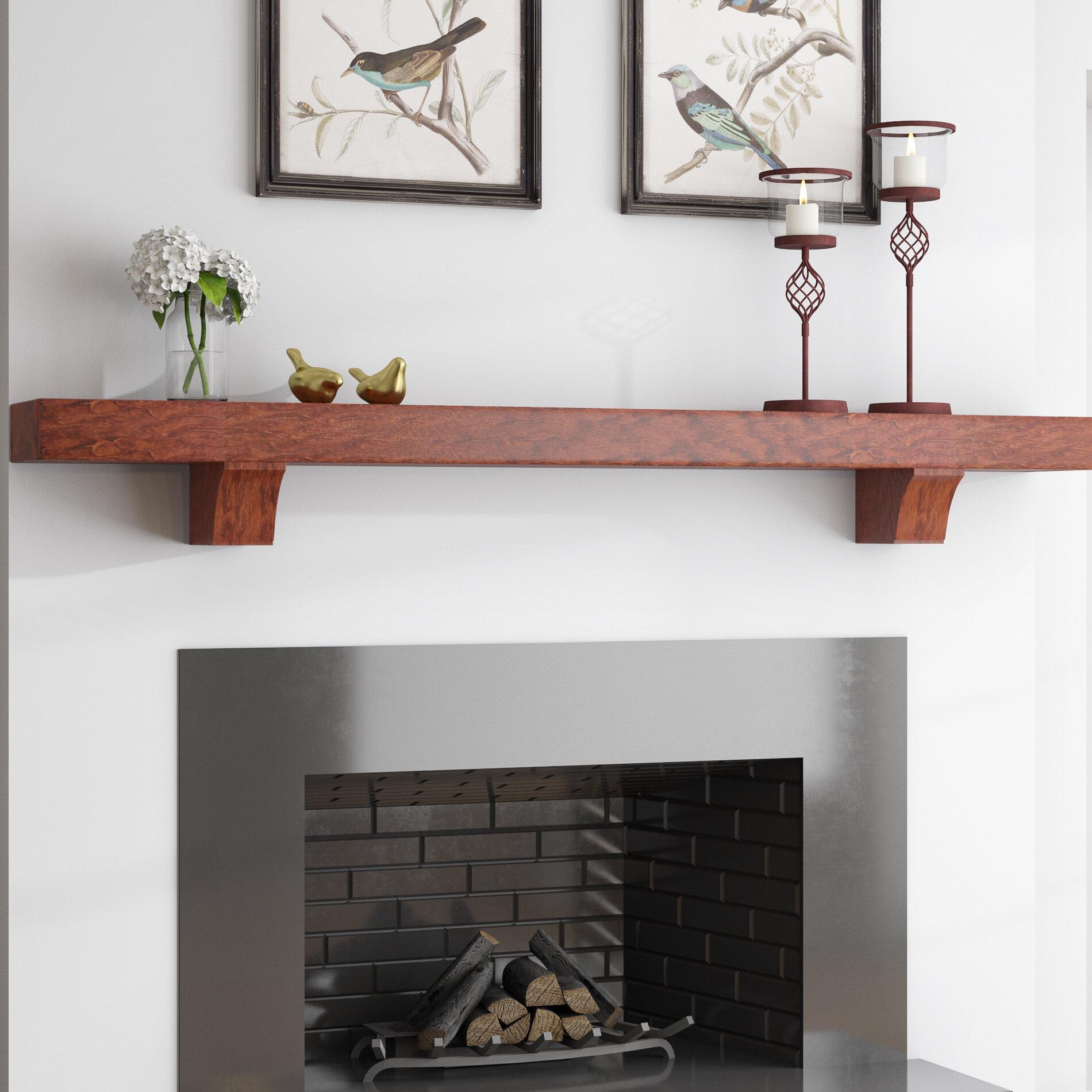 Wall mantle shelf Full Wall Fireplace Sterlinghdcom Charlton Home Beddington Fireplace Mantel Shelf Wayfair