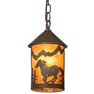 Millwood Pines Ewart Running Horse 1-Light Lantern Pendant